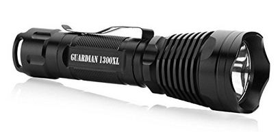 1. Supernova Guardian 1300 Professional Series Ultra Bright Rechargeable Tactical LED Flashlight