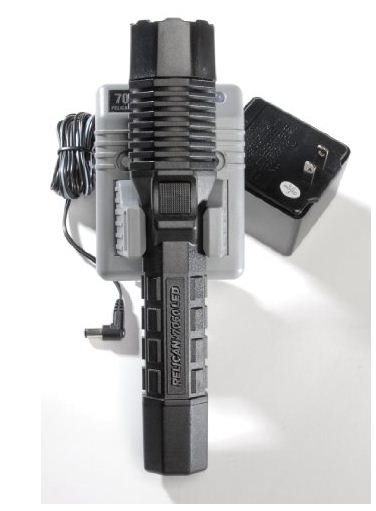 4. Pelican 7060 AC110F Black Tactical Rechargeable LED Flashlight with 120V Charger