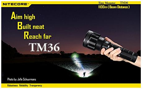7. NiteCore TM36 SBT-70 LED Rechargeable Searchlight