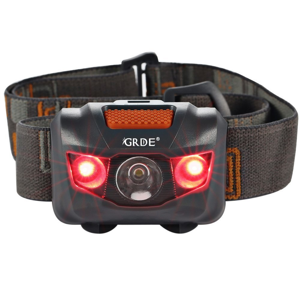 Headlamp LED Headlight 4 Mode Outdoor Flashlight Torch