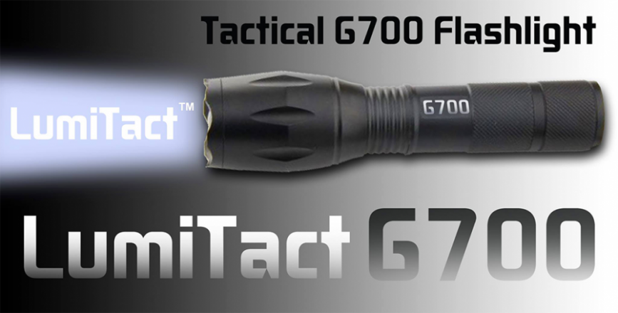 Lumitact G700 Tactical LED Flashlight At 75% Off